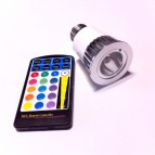 LED RGB  E27 SPOTLIGHT 7 COLORES 5W 220V