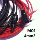 SET CABLE 4MM2 PANEL SOLAR AL CONTROLADOR DE CARGA (CONECTORES MC4)